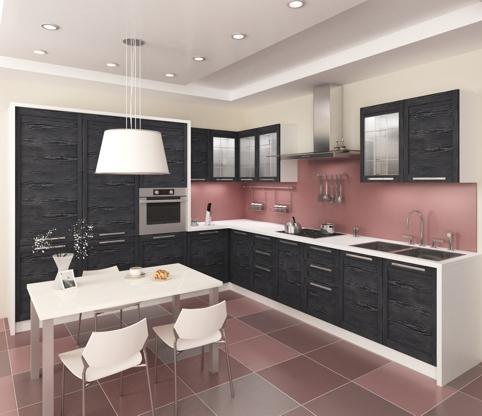 угловая кухня большая фото