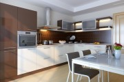 Кухня Пластика, недорогие угловые кухни